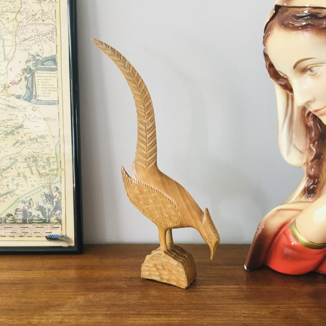 Vintage houten vogel