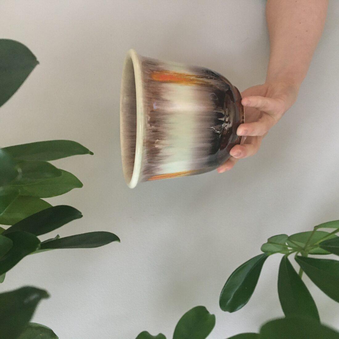 Vintage bloempot Parelmoer
