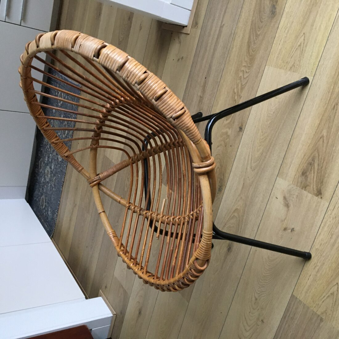 Vintage rotan Rohe fauteuil