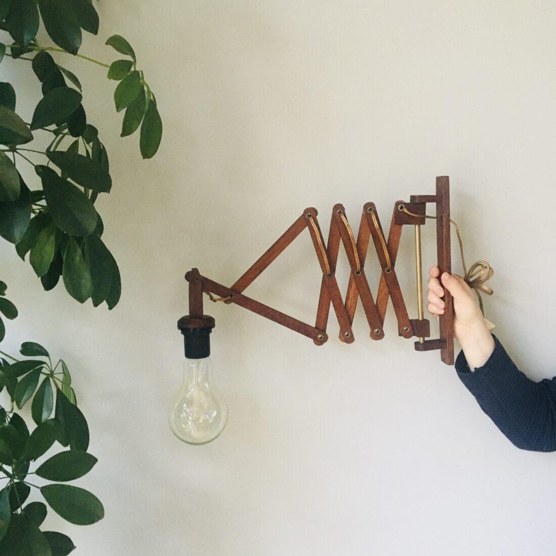 Vintage schaarlamp wandlamp