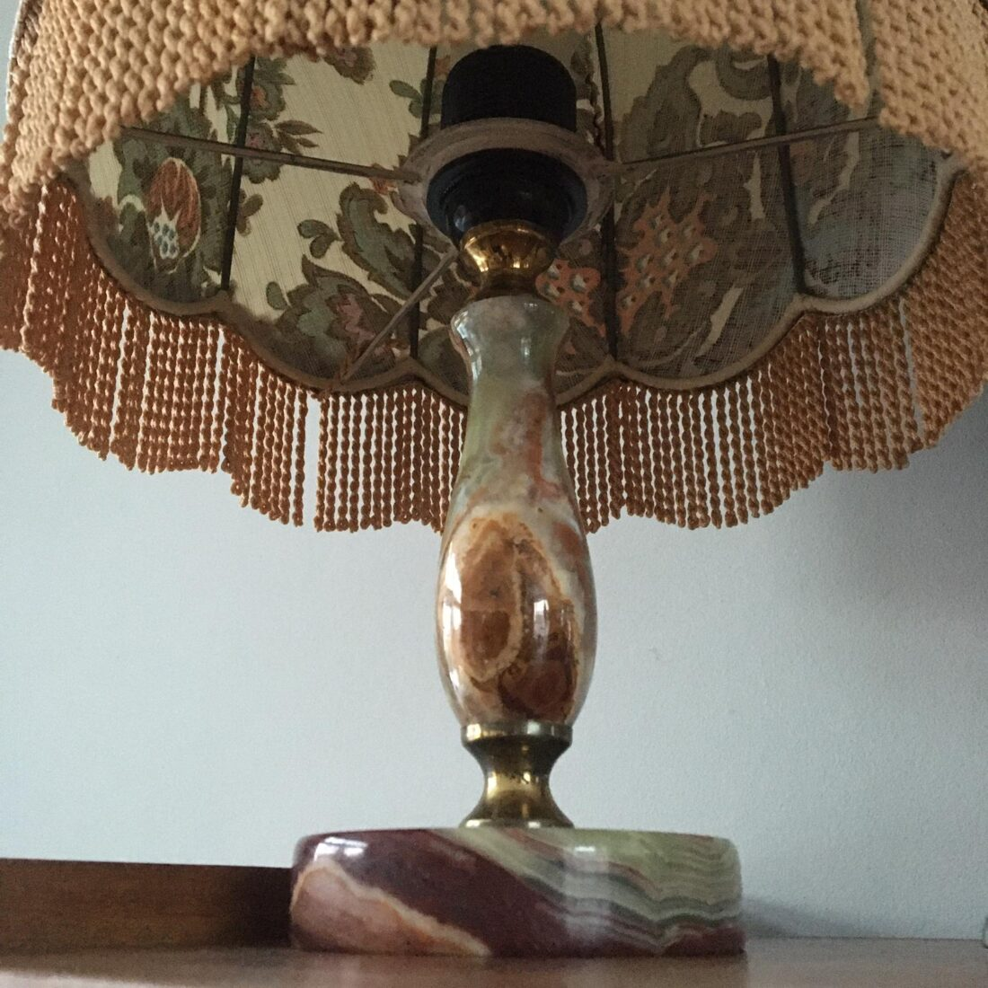Hollywood Regency tafellamp groen