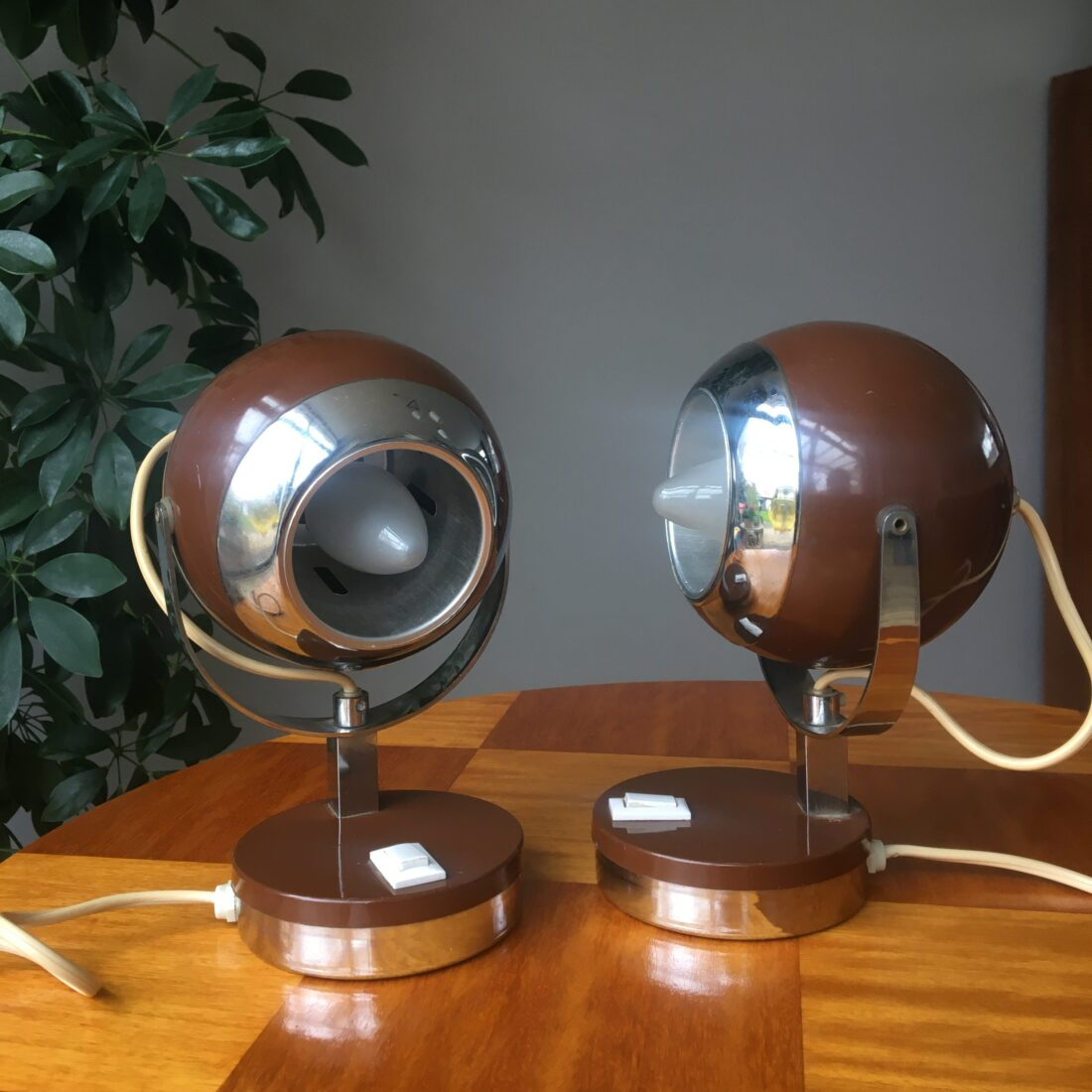 Vintage bol tafellamp