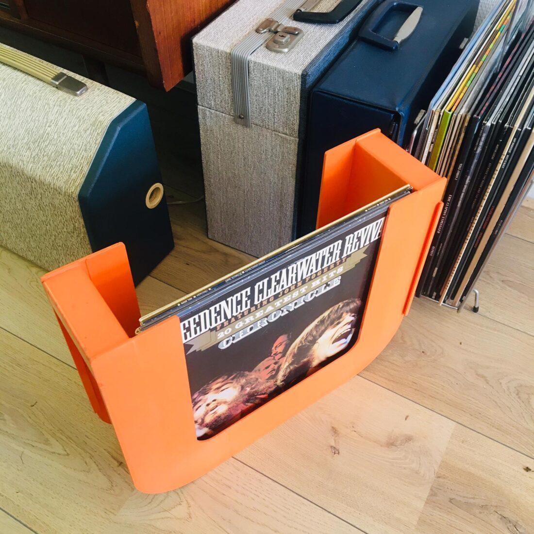 Vintage Ubox platenhouder