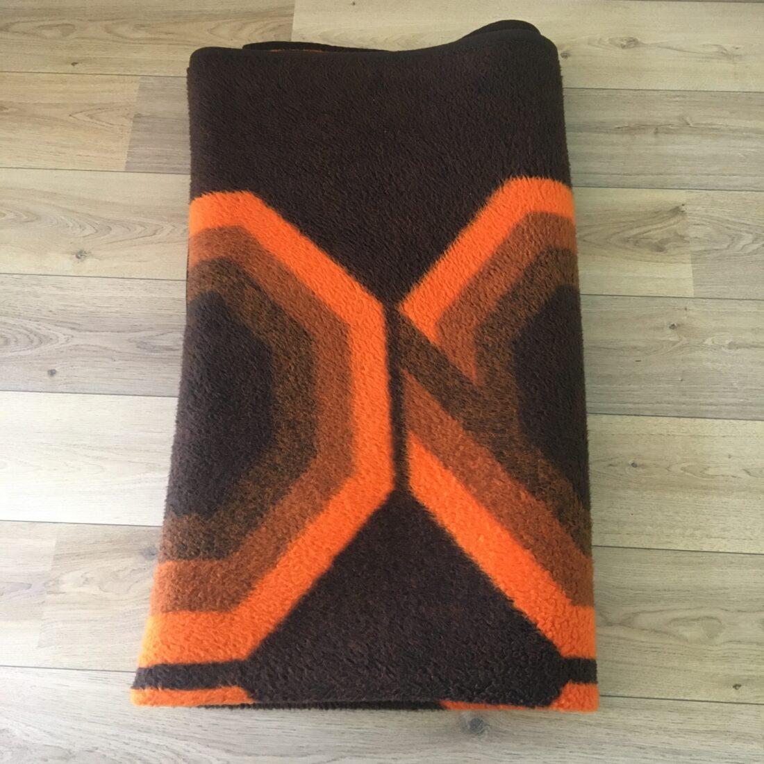Vintage Wollen deken oranje