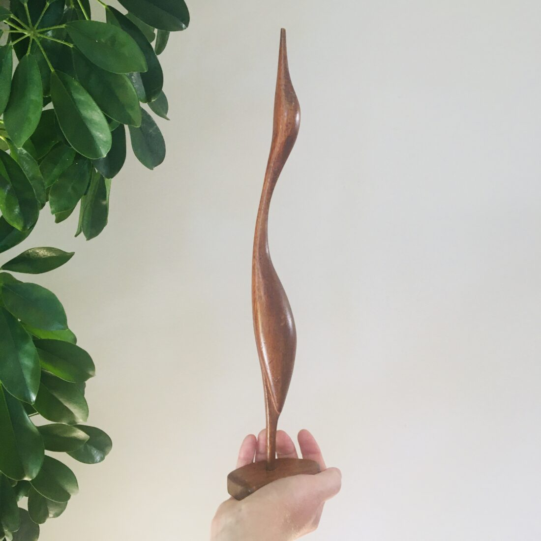 Vintage teak houten vogel
