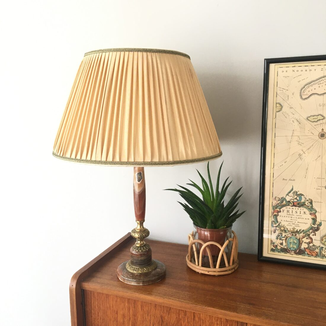 Vintage marmeren tafellamp