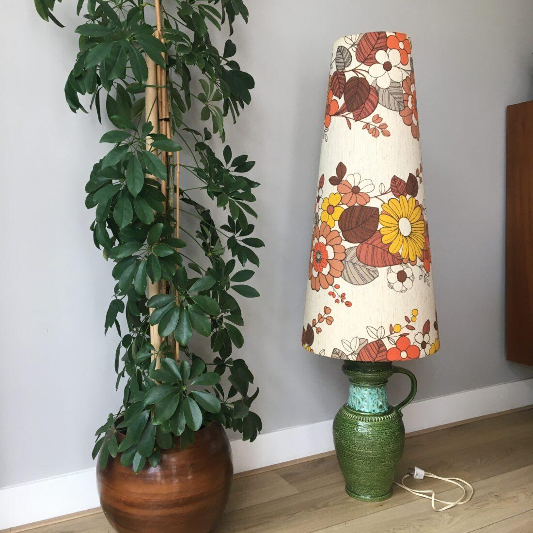 W. Germany Vintage vloerlamp bloemen